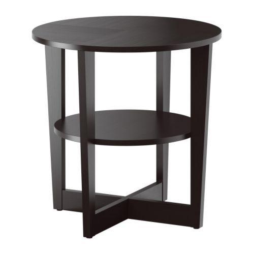 """IKEA """"ВЕЙМОН"""" Придиванный столик, черно-коричневый"""
