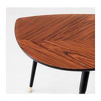 """IKEA """"ЛЁВБАККЕН"""" Придиванный столик, классический коричневый, фото 1"""