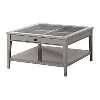 "IKEA ""ЛИАТОРП"" Журнальный стол, серый, стекло"