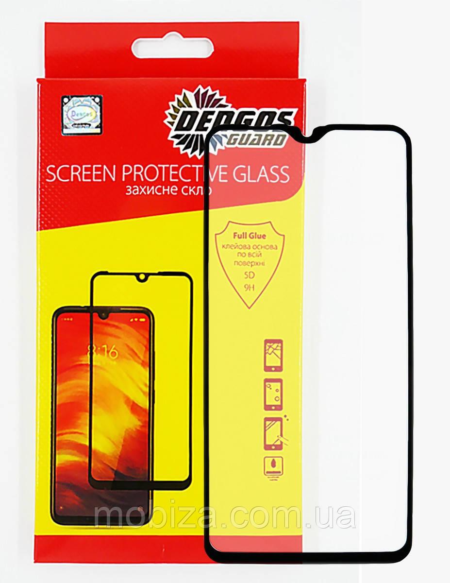 Захисне скло DENGOS Full Glue для Samsung Galaxy A10s (black)