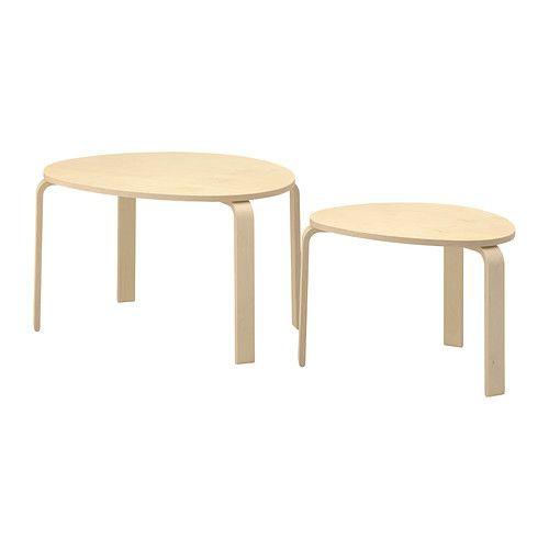 """IKEA """"СВАЛЬСТА""""  Комплект столов, 2 шт, березовый шпон"""