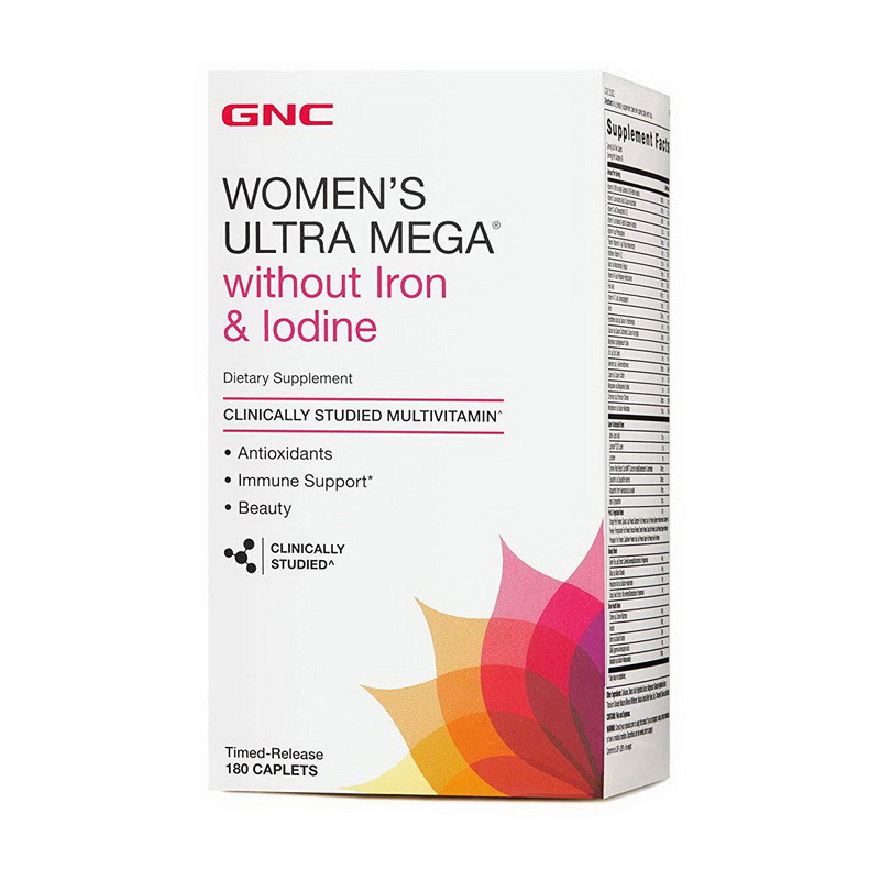 GNC WOMENS ACTIVE NO IRON, JODINE (180)