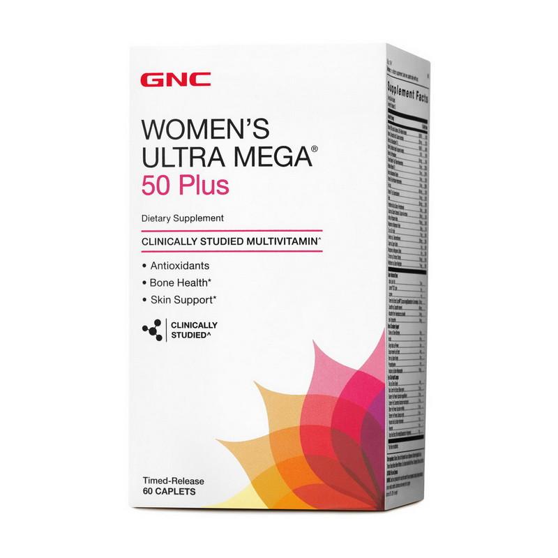 Витамины для женщин 50+ GNC Women`s Ultra Mega 50 Plus 60 caps