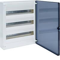 Щит Hager 500х390х99 наружный 54 модуля 3 ряда прозрачные двери IP40 GOLF VS318TD