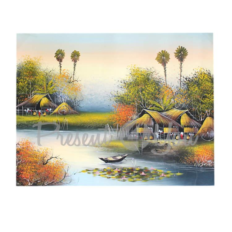 Полотно декоративное, 5 видов изображений (73х56 см) (034-2024)