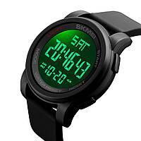 Skmei 1257 черные спортивные мужские часы