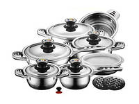 Большой Набор Для Кухни Zurrichberg DELUXE ZBP 8011 Набор Посуды Кухонный 16 Предметов, фото 1