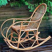 Кресло-качалка плетеное из лозы с подставкой для ног (бесплатная доставка), фото 1