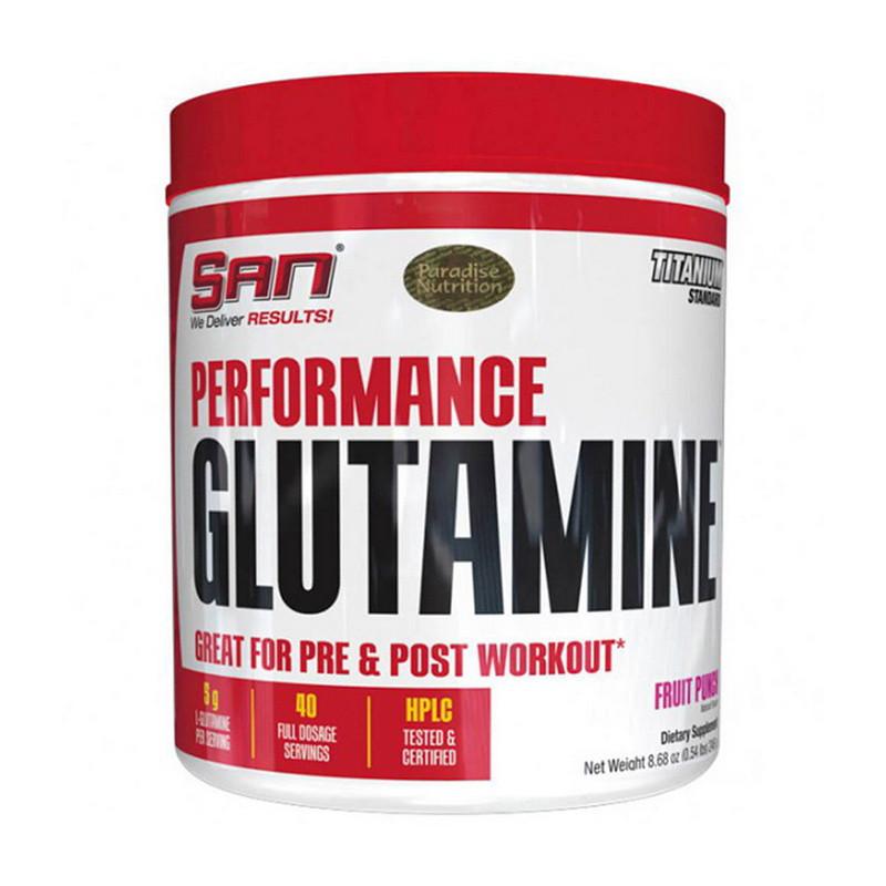 Глютамин SAN Performance Glutamine 300 g натуральный вкус