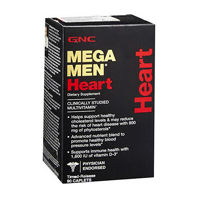 Витамины для мужчин GNC Mega Men Heart 90 caps