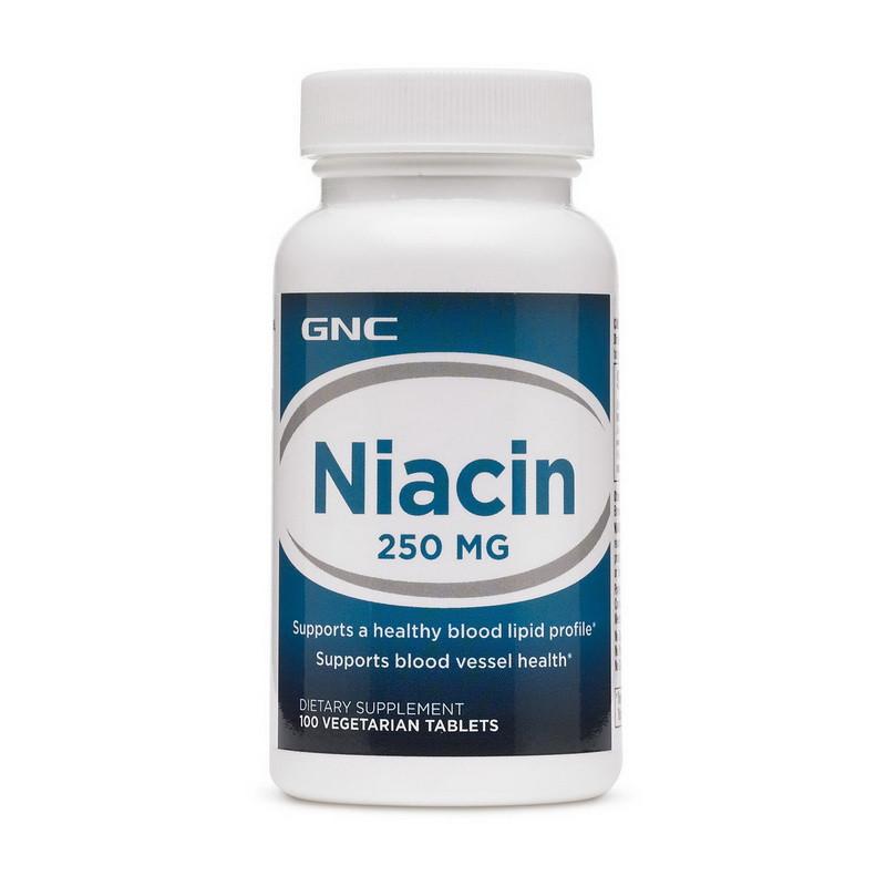 Витамин В3, Ниацин GNC Niacin 250 100 tabs