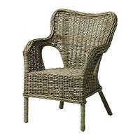 """IKEA """"БЮХОЛЬМА"""" Кресло, серый, ротанг"""
