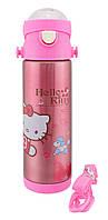 Термос детский с поилкой Disney 9030-500 500мл Hello Kitty с собачкой