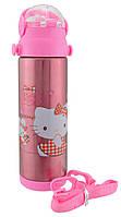Термос детский с поилкой Disney 9030-500 500мл Hello Kitty с кроликом