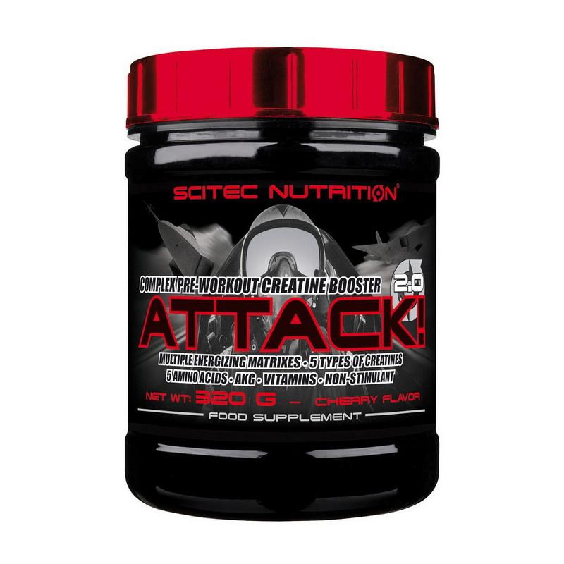 Предтренировочный комплекс Scitec Nutrition Attack 2.0 320 g