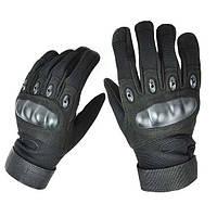 Перчатки тактические Оakley. Чёрные. Полнопалые