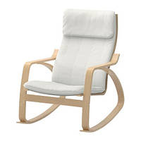 """IKEA """"ПОЭНГ"""" кресло-качалка, березовый шпон, Ранста натуральный"""