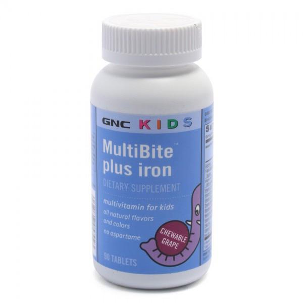 Витамины с железом GNC Multibite Plus Iron 90 tabs