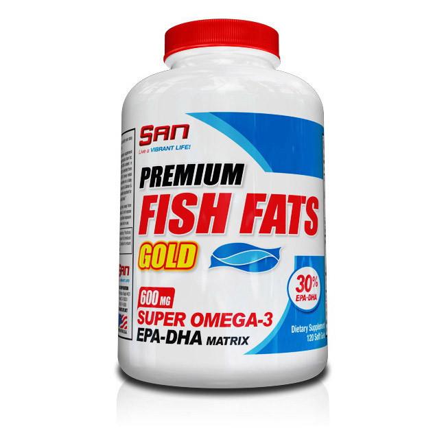 Рыбий жир, Омега 3 SAN Fish Fats Gold 120 softgels