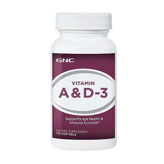 Витамин А и Д3 GNC Vitamin A & D-3 100 softgels