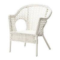 """IKEA """"ФИННТОРП"""" кресло плетеное, белый"""