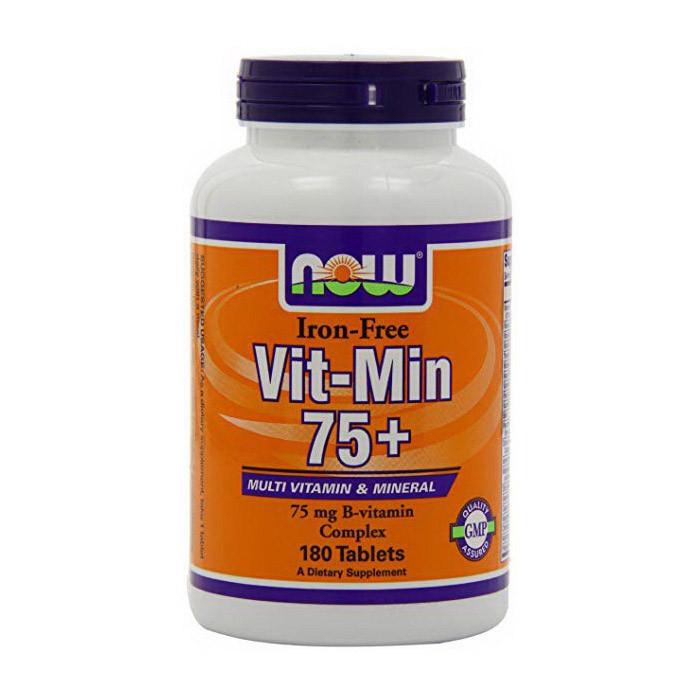 Витамины для женщин без железа NOW Vit-Min 75+ iron-free 90 tabs