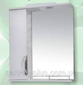 Зеркало для ванной комнаты с пеналом и подсветкой Грация-55