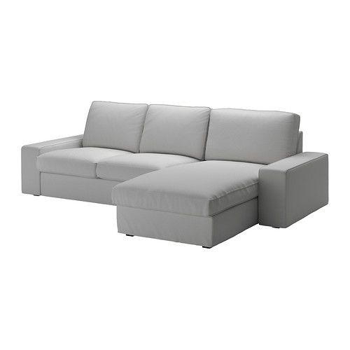 """IKEA """"КИВИК"""" диван двухместный с козеткой,  Оррста светлосерый"""