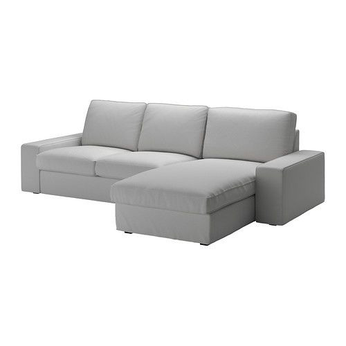 """IKEA """"КИВИК"""" диван двухместный с козеткой,  Оррста светлосерый, фото 1"""