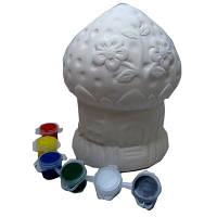 Раскраска копилка керамическая Сказочный домик 8-533