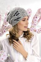"Женская шапка Willi на флисе ""Биэсия"" (Biesia) - B5M серый меланж"