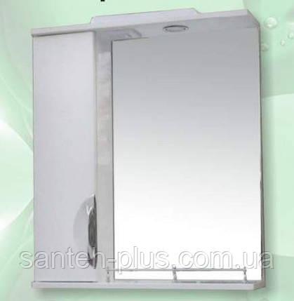 Зеркало для ванной комнаты с пеналом и подсветкой Грация-65, фото 2