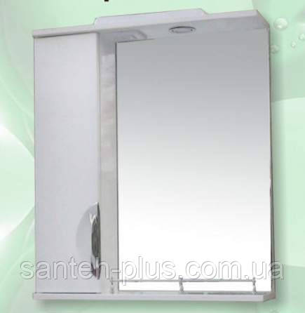 Зеркало для ванной комнаты с пеналом и подсветкой Грация-65