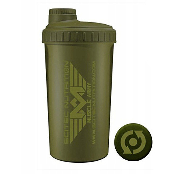 Шейкер Scitec Nutrition Shaker Scitec Muscle Army Green 700 ml