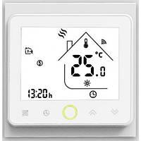 Терморегулятор для теплого пола сенсорный программируемый на Wi-Fi управлении In-Therm PWT-002