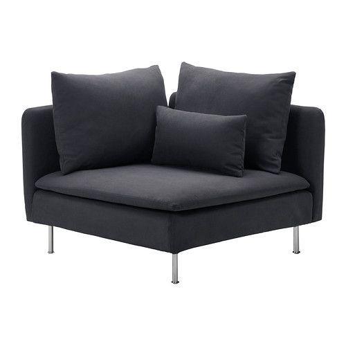 "IKEA ""СЁДЕРХАМН"" секция угловая, Самста тёмносерый"