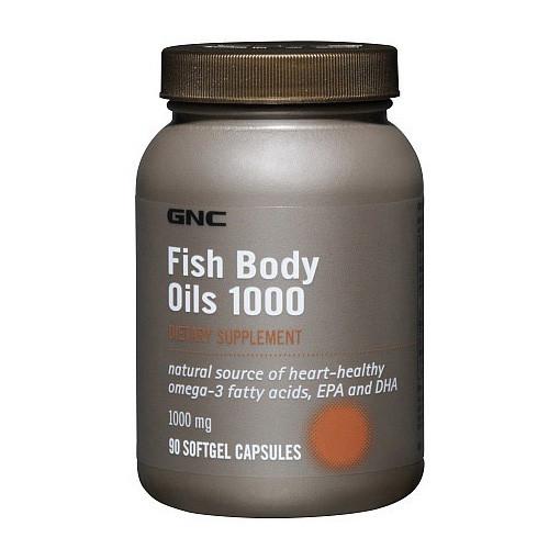 Рыбий жир, Омега 3 GNC Fish Body Oils 1000 90 softgels