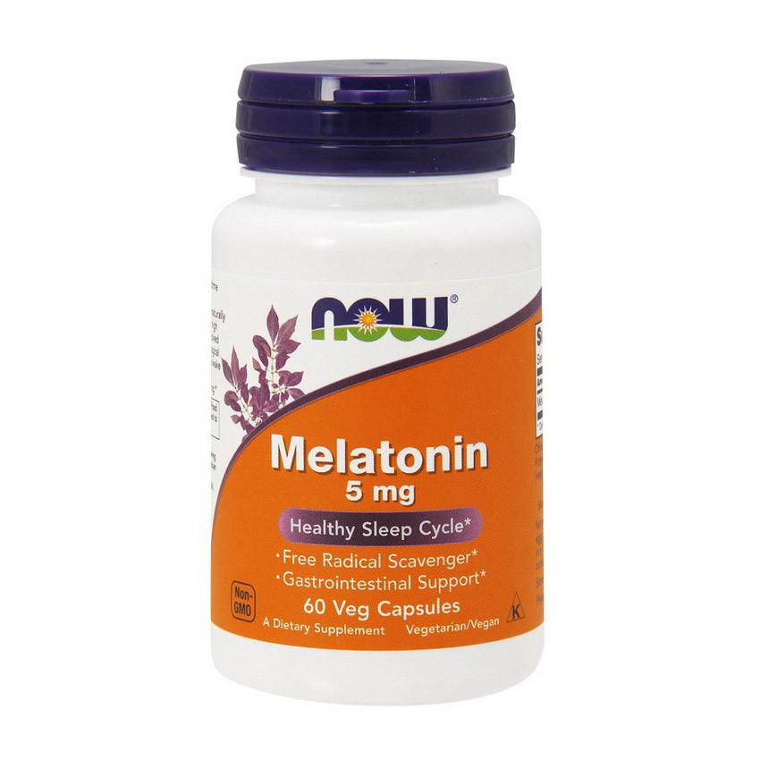 Мелатонин NOW Melatonin 5 mg 60 caps