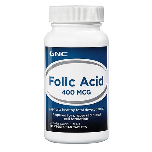 Фолиевая кислота GNC Folic Acid 400 mkg 100 veg tabs