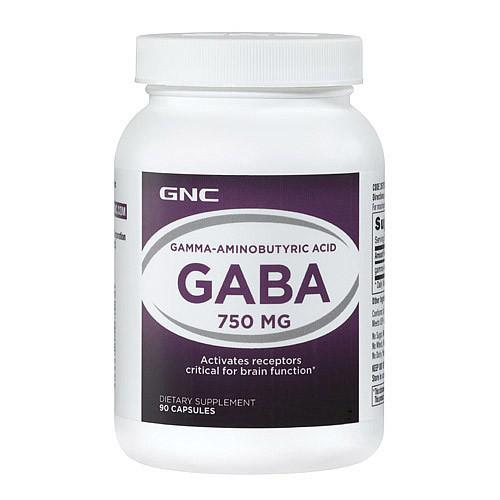 Гамма-Аминомасляная Кислота GNC GABA 750 mg 90 caps