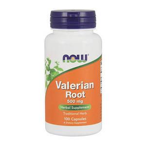 Валериана NOW Valerian Root 500 mg 100 veg caps
