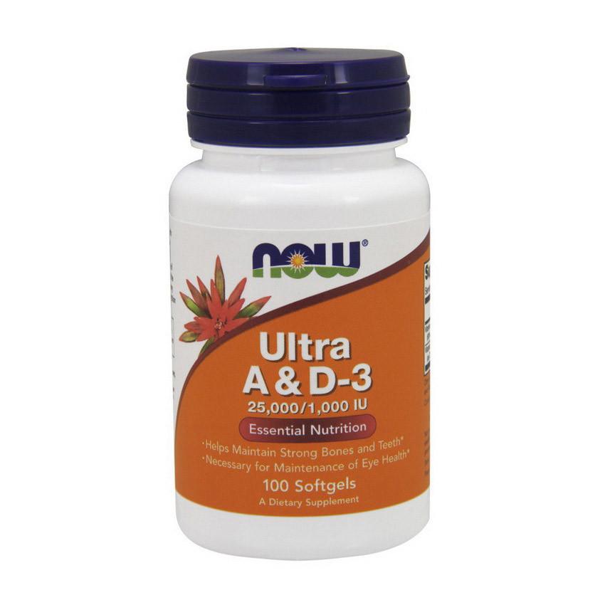 Витамин А и Д3 NOW Ultra A&D-3 100 softgels