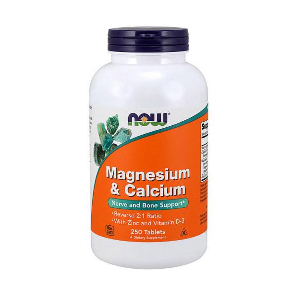 Магний и кальций NOW Magnesium & Calcium 250 tabs