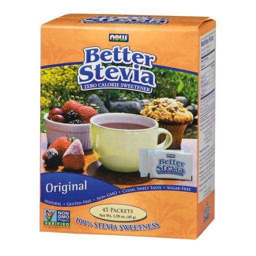 Стевия NOW Better Stevia 45 packets 45 g
