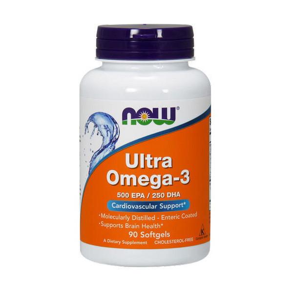 Рыбий жир, Омега 3 NOW Ultra Omega-3 90 softgels