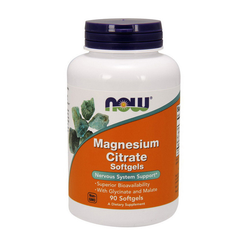 Цитрат магния NOW Magnesium Citrate 90 softgels