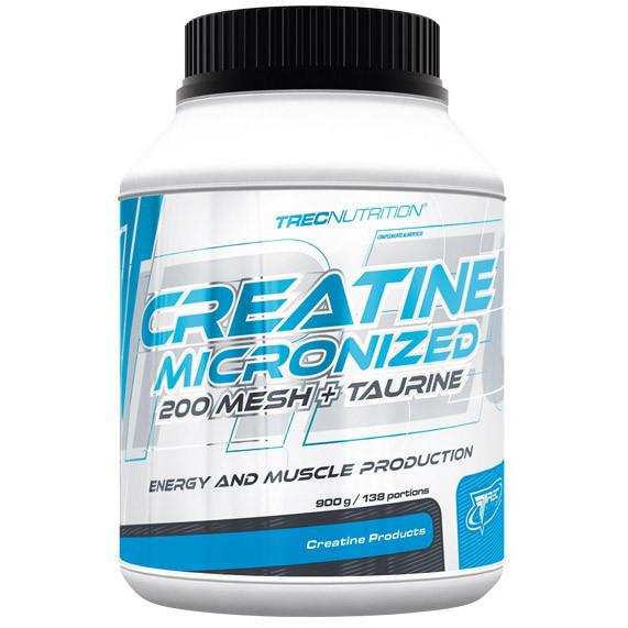 Креатин TREC nutrition Creatine Micronized 200 mesh+taurine 900 g натуральный вкус