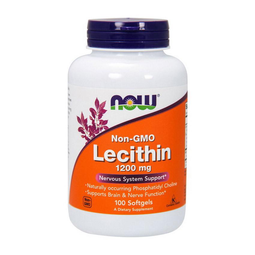 Лецитин NOW Lecithin 1200 mg 100 softgels