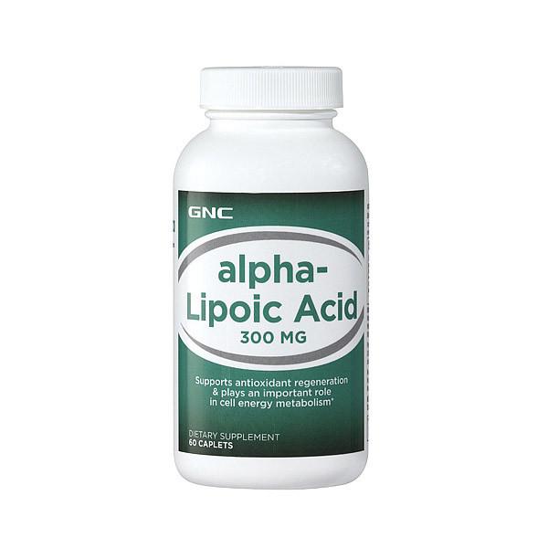 Альфа-липоевая кислота GNC Alpha-Lipoic Acid 300 mg 60 caps