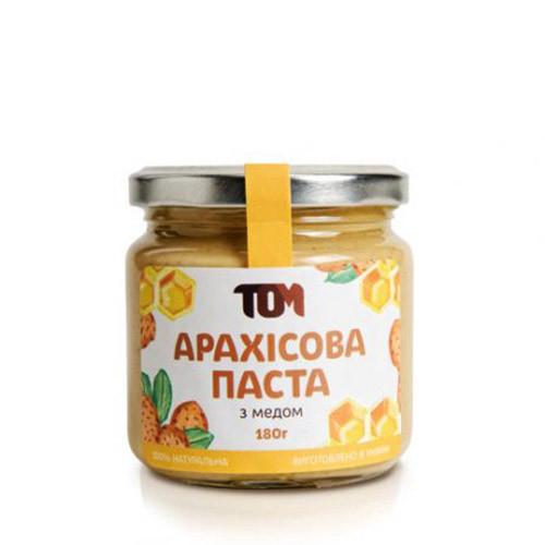 Арахисовая паста TOM peanut butter Арахісова Паста 180 g